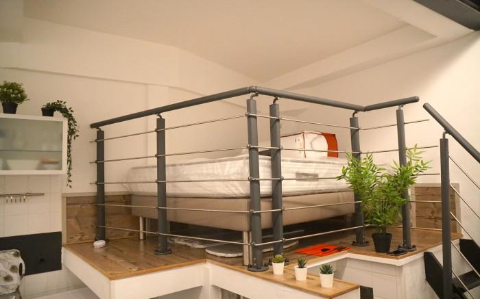 lit double en mezzanine